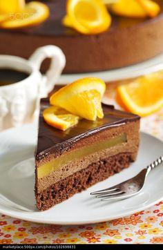 Лимонно-шоколадный торт. #торт #orange #chocolate #cake