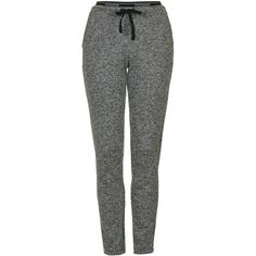 TopShop Sporty Loungewear Jogger (£24) ❤ liked on Polyvore featuring activewear, activewear pants, pants, grey and topshop
