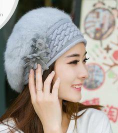 2016 Fashion New Women Hats Autumn And Winter Rabbit Fur Skullies & Beanies Knitting Warm Hat Elegant Ladies Beret Hats
