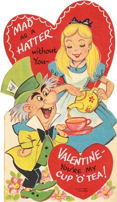 Vintage Mad Hatter Valentine