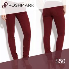 PAIGE Red Stretchy Skyline Skinny Jeans Size 28 Paige Red Stretchy Skyline Skinny Jeans Size 28  Size 28  98% cotton 2% spandex PAIGE Jeans Skinny