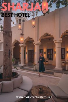 I was super excited for our stay in Al Bait. This luxury boutique hotel sits alongside the canal in the heritage district of Sharjah. Dream Home Design, House Design, Lavender Drink, Door Steps, Sharjah, Traditional Design, Old Houses, How To Memorize Things, Mansions