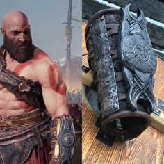 God of War cosplay; Orc Warrior, Fantasy Warrior, Custom Metal, Custom Leather, Thor Helmet, Kratos God Of War, War Tattoo, Warrior Costume, Weapon Concept Art