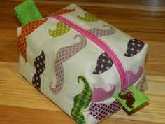 Mustache Make Up/Accessory  Bag by OhSewCuteBags on Etsy, $14.50