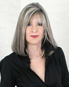 silver highlights to grow in the grey as a natural highlight