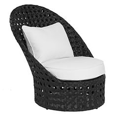 Z Gallerie - Portofino Outdoor High-Back Chair - Black