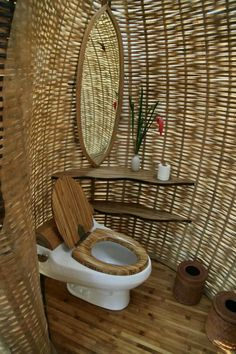 48 Sustainable Bamboo House Design That Make Cozy > Fieltro.Net House Design sustainable bamboo house design that make cozy 2 > Fieltro. Bamboo Architecture, Architecture Design, Cultural Architecture, Contemporary Architecture, Bamboo House Design, Bamboo House Bali, Bali House, Bamboo Structure, Bamboo Bathroom