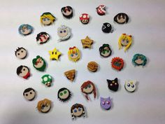 Random polymer clay miniature magnets by SammyCraft on Etsy, $15.00