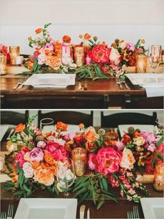 Flowers & colors. Possible layout for sweetheart table?