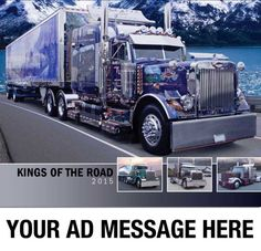 2015 Promotional Wall Calendars - Kings of the Road  Big Rigs, Custom Trucks Calendar  Your Kings of the Road - Big RIgs Calendar features 13 dramatic images of Custom Big Rigs that provide both a home on the road and an artistic expression of the individuality of their operators.  Personalize your Big Rigs Promotional Wall Calendars with your Business, Orgnaization or Event Name, Logo and Message for as low as 65¢!