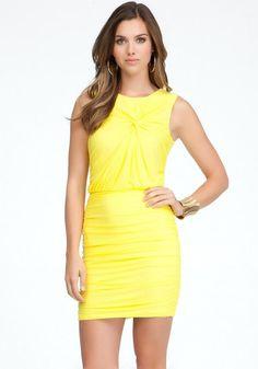 Bebe yellow dress