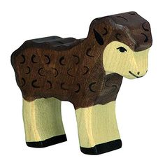 Wooden Black Lamb