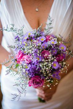 Bright Pink & Purple Bouquet. Gorgeous Bride, Gorgeous Flowers. Calderwood Hall. Natural Nostalgia. Décor, Flowers.