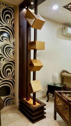 Top 40 Modern Partition Wall Ideas in 2020 Room Partition Wall, Living Room Partition Design, Living Room Divider, Room Partition Designs, Living Room Tv Unit Designs, Pooja Room Door Design, Wood Partition, Partition Ideas, House Ceiling Design