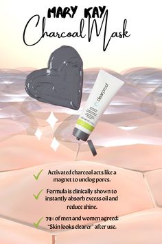 Mary Kay Charcoal Mask, Deep Clean Pores, Selling Mary Kay, Mary Kay Party, Mary Kay Ash, Mary Kay Cosmetics, Skin Care Routine Steps, How To Exfoliate Skin, Beauty Consultant