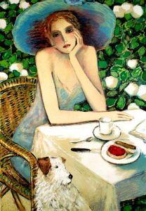 Jean-Pierre Cassigneul (b. 1935)  'Cherry'. / Coffee Art / Coffee Shop Stuff
