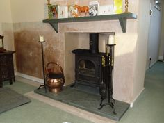 wood burner mantle shelf - Google Search