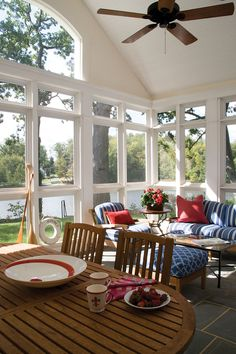Penza Bailey Architects; Lake View Screened Porch