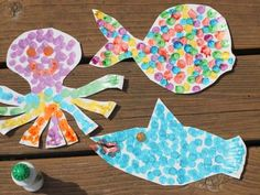 Paper Plate Sea Animals & Cool project from http://www.kiwicrate.com/projects/Paper-Plate-Sea ...