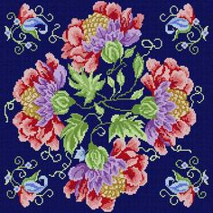 Jacobean Flowers