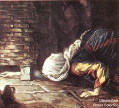 the lost coin | Luke 15 Bible Pictures: The woman searches for her lost coin