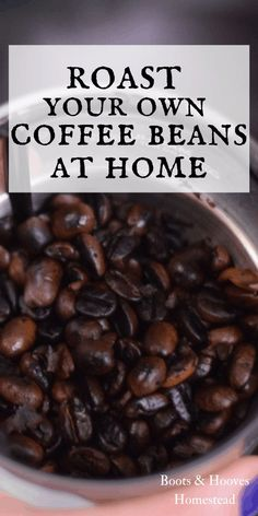 Fresh Roasted Coffee Beans! Did you know you could roast your own coffee beans at home? Learn all about how to do it easily in your own home kitchen with this simple DIY recipe.