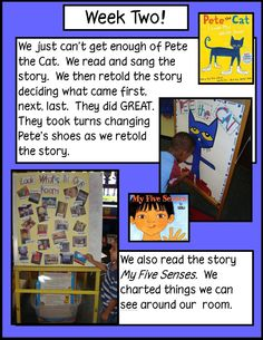 Pete the cat Week Two!