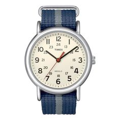 Shop Timex Unisex Special Weekender Slip Through Quartz with Off-White Dial Analogue Display and Blue Nylon Slip Strap ✓ free delivery ✓ free returns on eligible orders. Casual Watches, Cool Watches, Watches For Men, Wrist Watches, Female Watches, Stylish Watches, Bracelets Bleus, Timex Watches, Women's Watches
