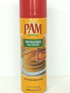 This is a BIG 17 oz can of PAM CANOLA NO-STICK COOKING SPRAY.  Perfect for the avid cook or for those of us who cook when we're in the mood! #PAM