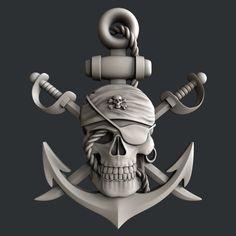 STL models for CNC router pirate skull model modelcharacter… Cnc Router, Routeur Cnc, Router Woodworking, Zbrush, 3d Printer Models, Skull Model, Bateau Pirate, Pirate Art, Pirate Woman
