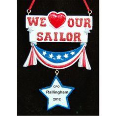 USA Proud US Navy Christmas Ornament  Christmas ornament