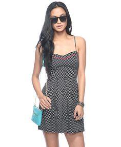 polka dot sweetheart dress