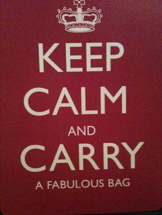 keep calm...bag