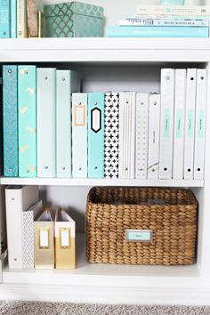 23 Trendy Home Office Organization Ideas Storage Ikea Office Organization At Work, Home Office Storage, Binder Organization, Home Office Design, Home Office Decor, Organized Office, Office Ideas, Organize Office Supplies, Binder Storage