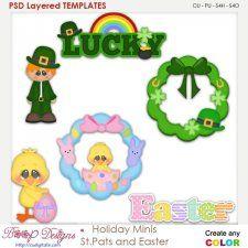 Holiday Spring Mini's St. Pats and Easter Layered Element Templates  cudigitals.com clipart template cu commercial scrap scrapbook digital graphics #cu #scrapbooking #photoshop #digiscrap