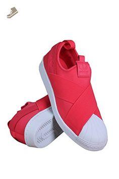 Adidas Women\u0027s Originals Superstar Slip-On Core Pink/Pink/White 8 B(