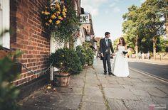 St Peter's Church, Prestbury Village wedding, couple shots