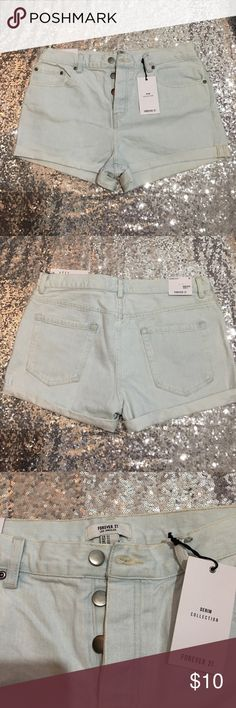 FOREVER 21 Denim Shorts Brand New FOREVER 21 High Waisted Shorts!!!! Very clean with the tags still attached! Forever 21 Shorts Jean Shorts