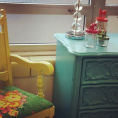 bring in the hand painted furniture by Wildcats Create!