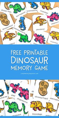 Dinosaur Theme Preschool Matching Game