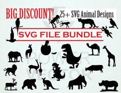 Animal Clipart Bundle. Animal SVG Files. Wild Animals Clipart Vector Design, Vector Art, Animal Silhouette, Animal Design, Wild Animals, Svg File, Vinyl Decals, Stock Illustrations, Clip Art