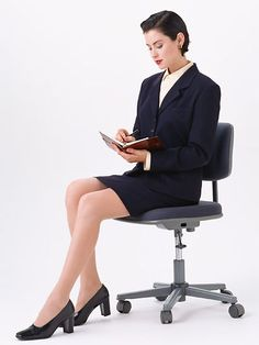 A beautiful woman in a business suit sitting in a chair isolated on a white background. - Free Stock Photo Id: 10734 KB) Sitting Pose Reference, Pose Reference Photo, Person Sitting, People Sitting, Business Grants, Business Women, Art Poses, Drawing Poses, Render People