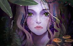 Girl, Forest, Fantasy