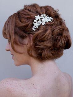 Starfish Bridal Hair Comb ~ Sandy- Hair Comes the Bride Bridal Hair Accessories & Headpieces, Wedding Jewelry, Hair & Makeup