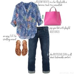Floral Blouse Outfitting for Spring - top and bag, yes please. Great for all those spring showers and parties.