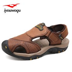 >> Click to Buy << iyouwoqu 2017 summer New men's leather sandal breathable sandals zapatos de los hombres sandalias hombre cuero genuino #Affiliate