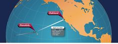The 16th leg of the solo flight came on April 14th  from Honolulu to Oakland Flight Time 17 hours and 38 minutes