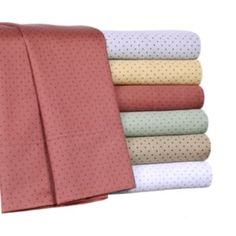 Elite+Home+Products+Carlton+Dot+300-Thread+Count+Sheet+Set