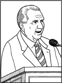 Free lds clipart to color for primary children first for President monson coloring page