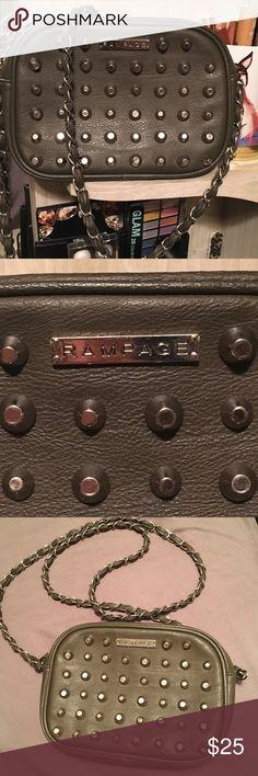 Cute Crossbody Purse  Gray studded purse! Perfect for dates, school, & work! Has a zipper pocket inside. Rampage Bags Crossbody Bags